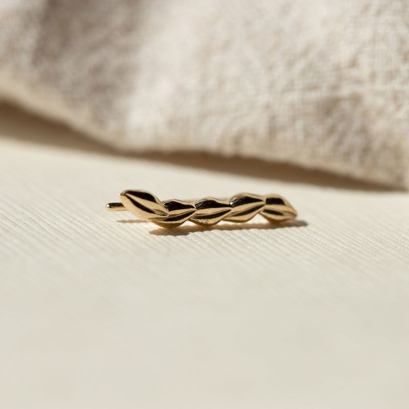 Resilience Leaf Ear Crawler - 14k Yellow Gold