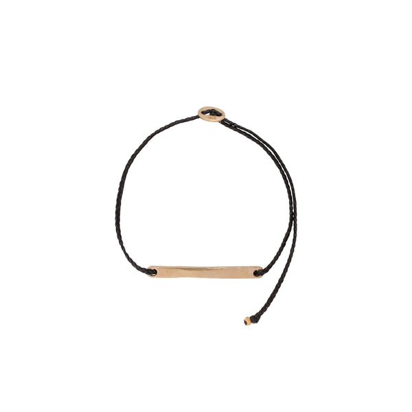 Signature ID Bar Bracelet - Brass, Nylon, Multiple Colours