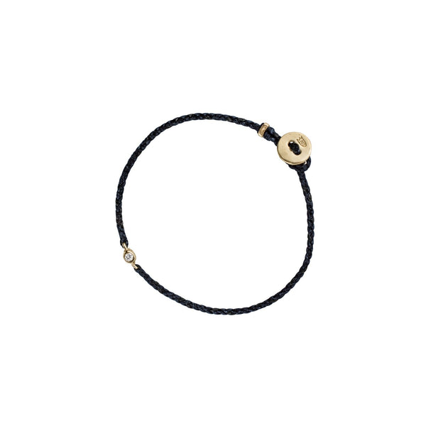 Scosha Precious Braid Bracelet - 10k Yellow Gold, White Diamond, Nylon, Multiple Colours