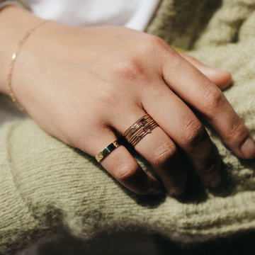 serendipity ruby ring on body}