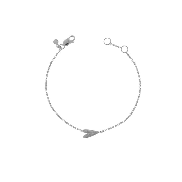 Sterling Silver Sideways Heart Bracelet