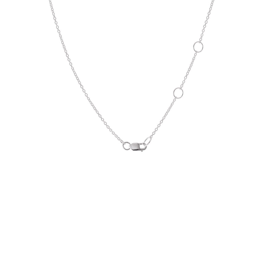 Sterling Silver Circle and Bar Lariat Necklace