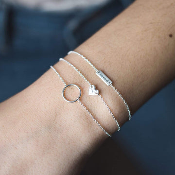 Sterling Silver Small Circle Bracelet
