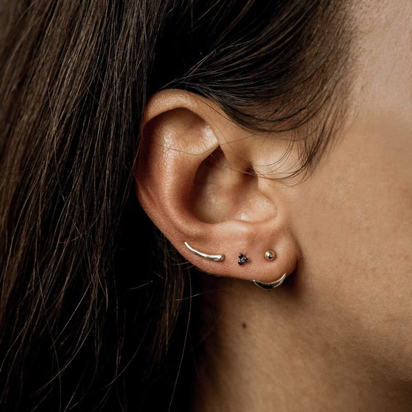 Little Crescent Moon Ear Jacket - 10k Rose Gold