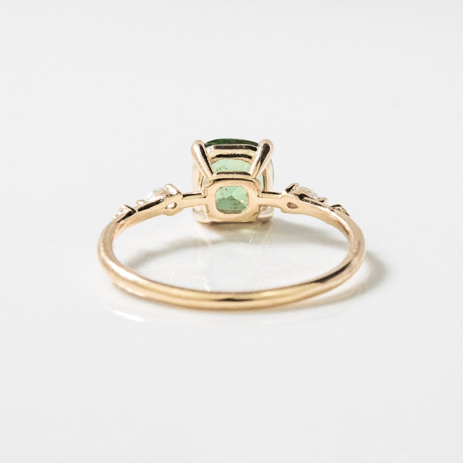 One of A Kind Aegean Ring - 14k Yellow Gold, Moss Green Sapphire