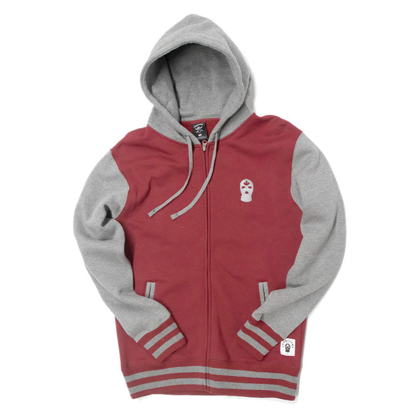 Varsity CU Zip Up - Burgundy