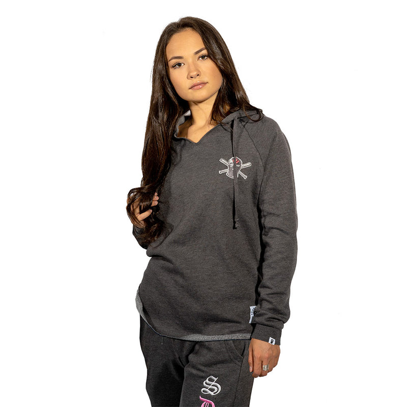 Wave Women's Washed Charcoal Pullover