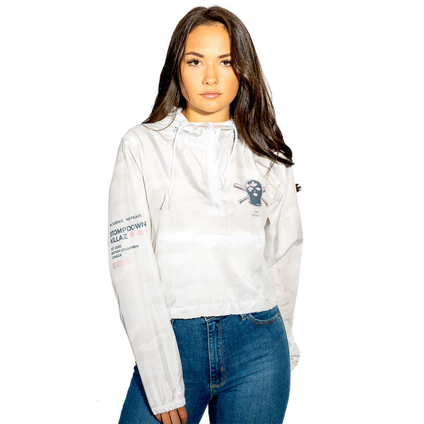 Currupted Women's Cropped Windbreaker