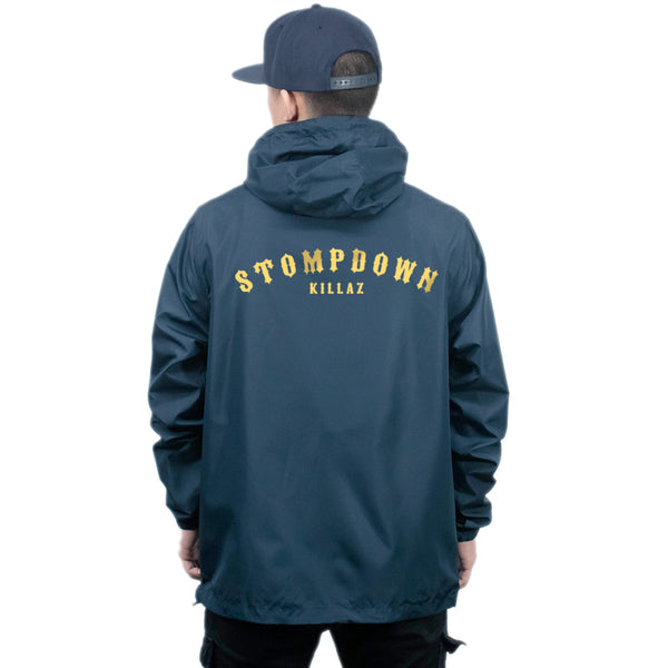 SDK Navy Zip-Up Windbreaker