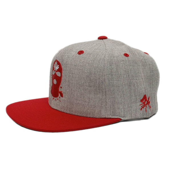 Gray/Red Spatter Snapback