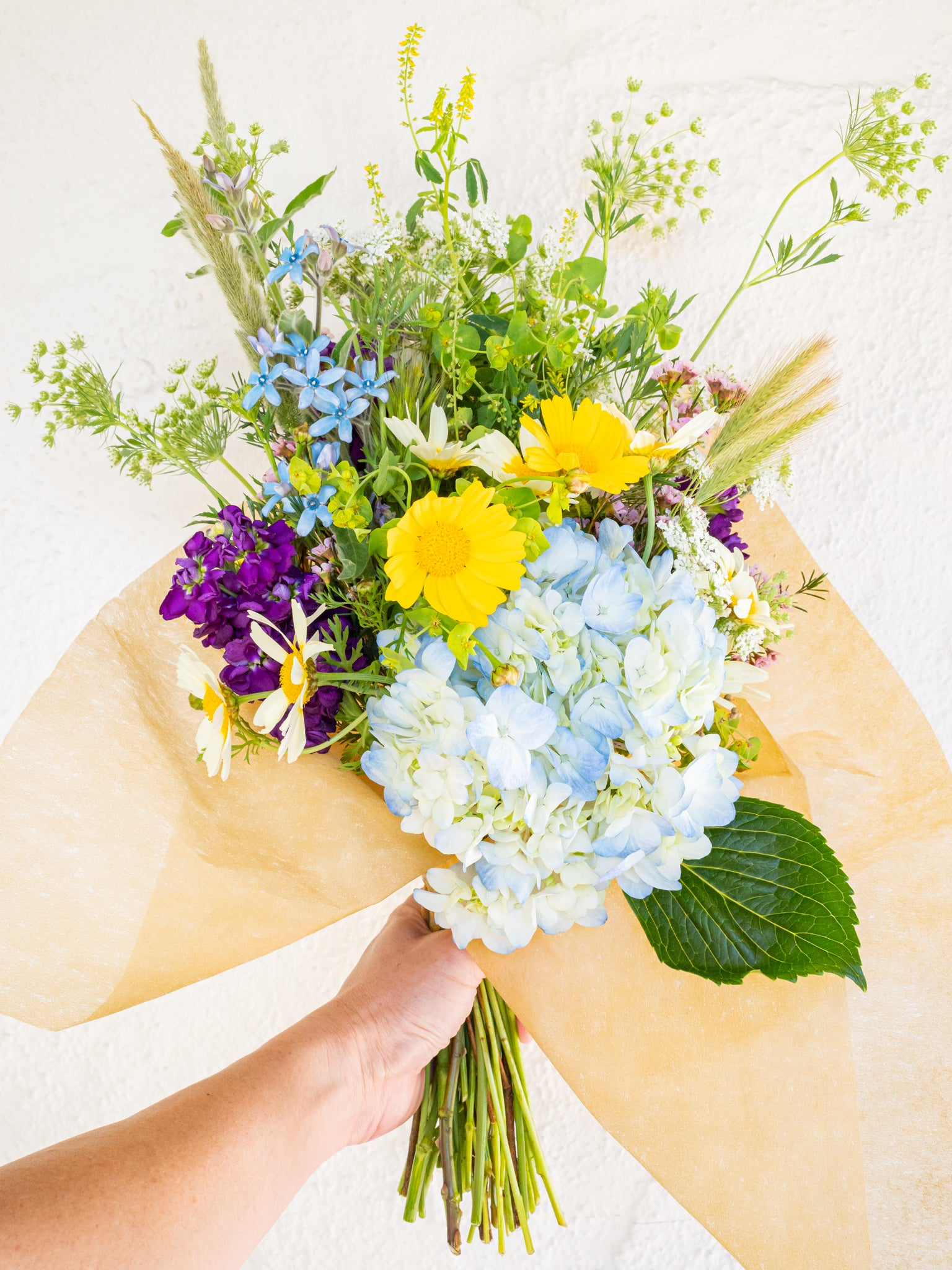 Energy charged flower bouquet