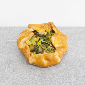 Potato leek galette (vegan)