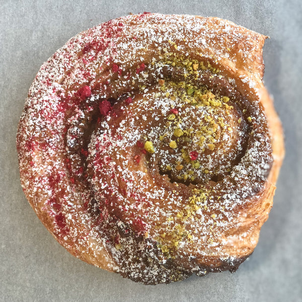 Raspberry pistachio escargot