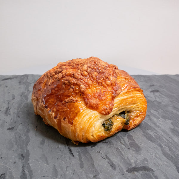 Spinach and cheese croissant