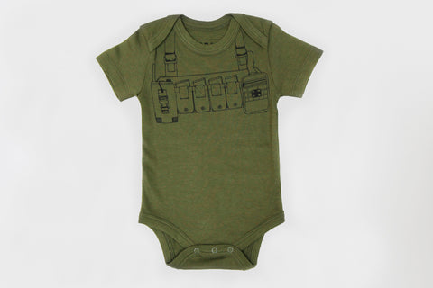 Organic Battle Rig Moss Green Onesie