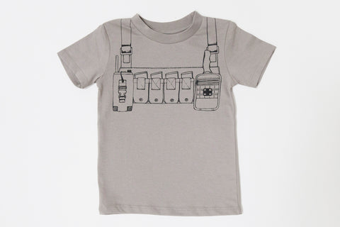 Organic Battle Rig Storm Gray Toddler Tee