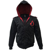 assassins creed hooded jacket front with beak