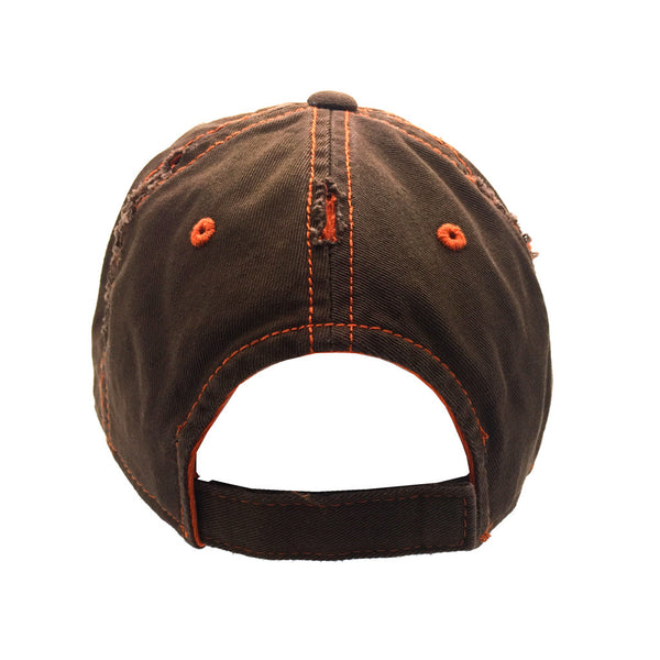 vault logo hat borderlands distress back view