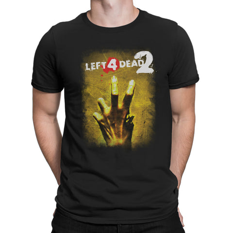 left 4 dead 2 logo t-shirt with hand