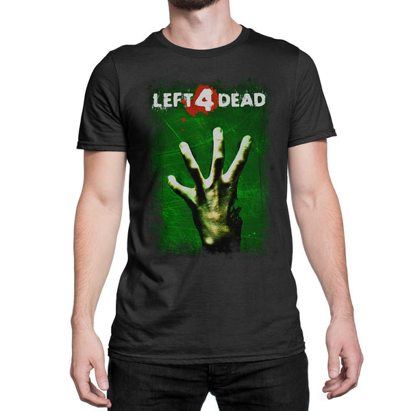 left 4 dead logo t-shirt green with hand