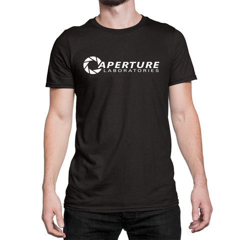 Aperture laboratories logo t-shirt black