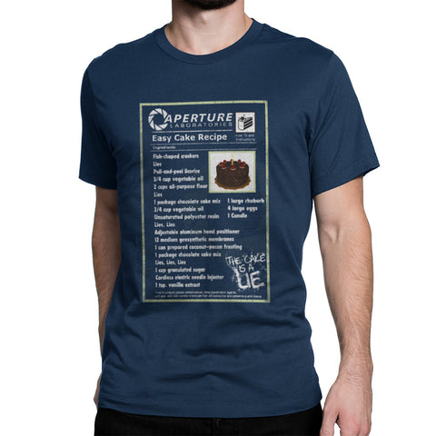 the cake is a lie cake recipe t-shirt