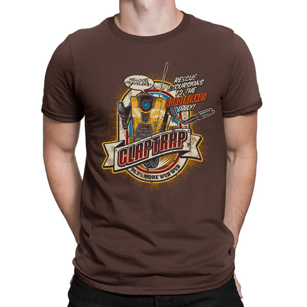 Claptrap borderlands t-shirt brown