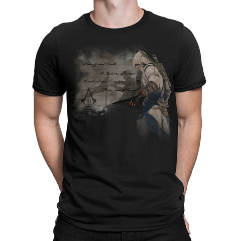 Assassins creed 3 conner t-shirt black