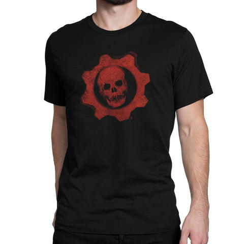 gears of war skull logo shirt