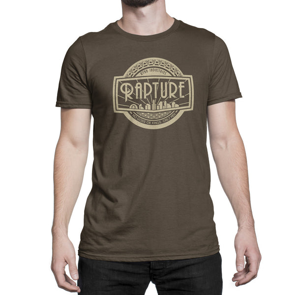 bioshock rapture logo video game t-shirt mens