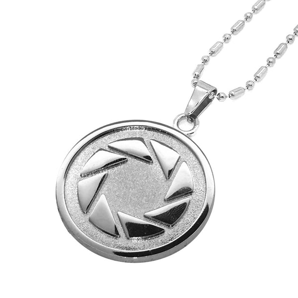 aperture science silver necklace
