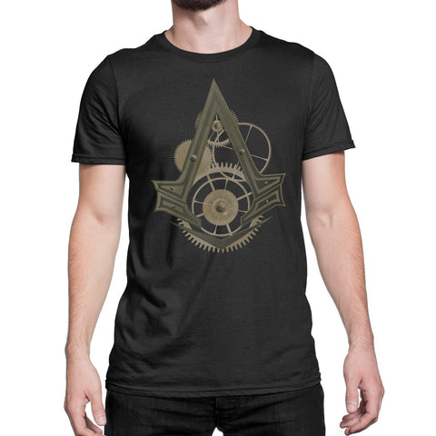 ac syndicate logo t-shirt black mens