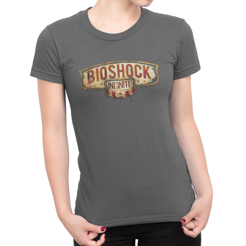 bioshock infinite main logo girl t-shirt