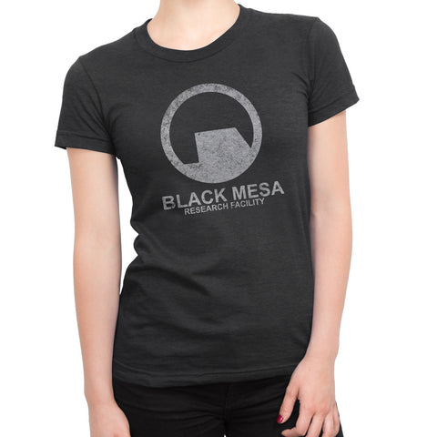 half-life black mesa girls t-shirt black