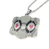 portal 2 companion cube necklace