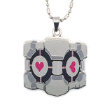 portal 2 weighted companion cube necklace