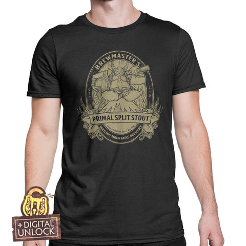dota 2 brew master t-shirt mens with digital unlock