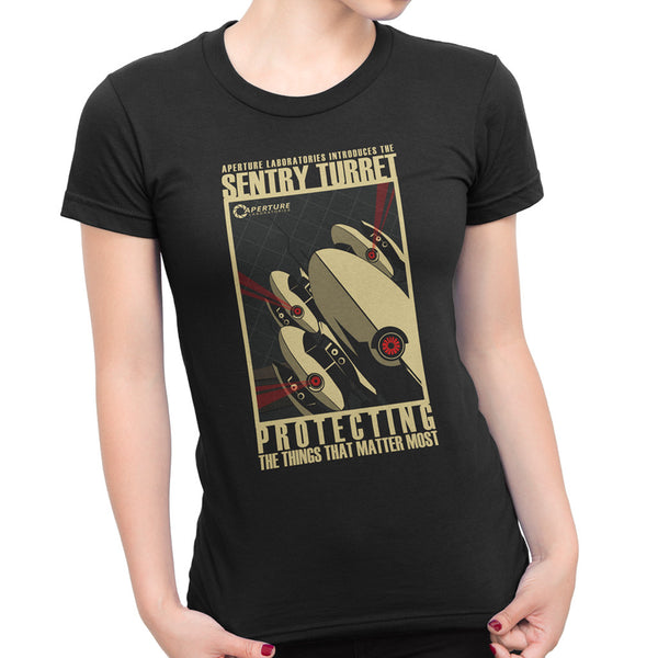 Sentry Turret Baby Doll Tee