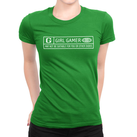 girl gamer t-shirt rated g by glitch