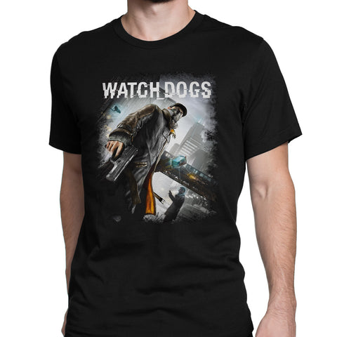 watch dogs game art logo t-shirt