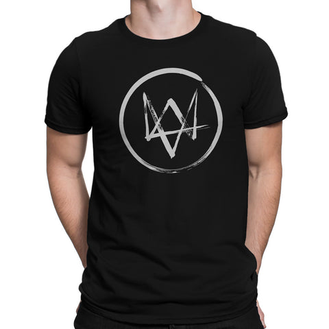 watch dogs game fox logo t-shirt