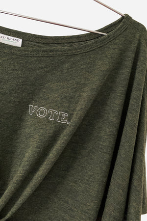 VOTE TEE - 337 BRAND Women's Sustainable Loungewear