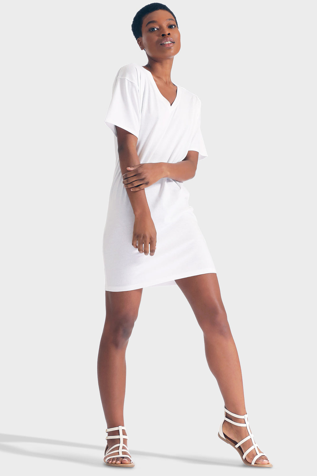 337 BRAND Women's Sustainable Basic Eliza T-Shirt Dress