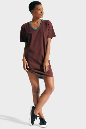 337 BRAND Women's Sustainable Basic Luna T-Shirt Dress