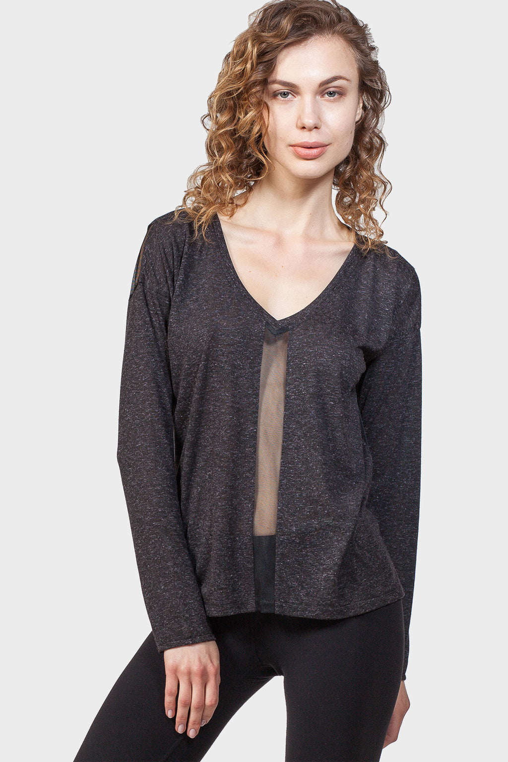 MESH PANEL SWEATSHIRT - 337 BRAND Women's Sustainable Clothing