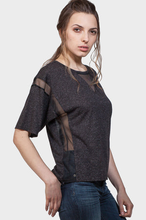 TRIANGLE MESH TOP - 337 BRAND Women's Sustainable Clothing