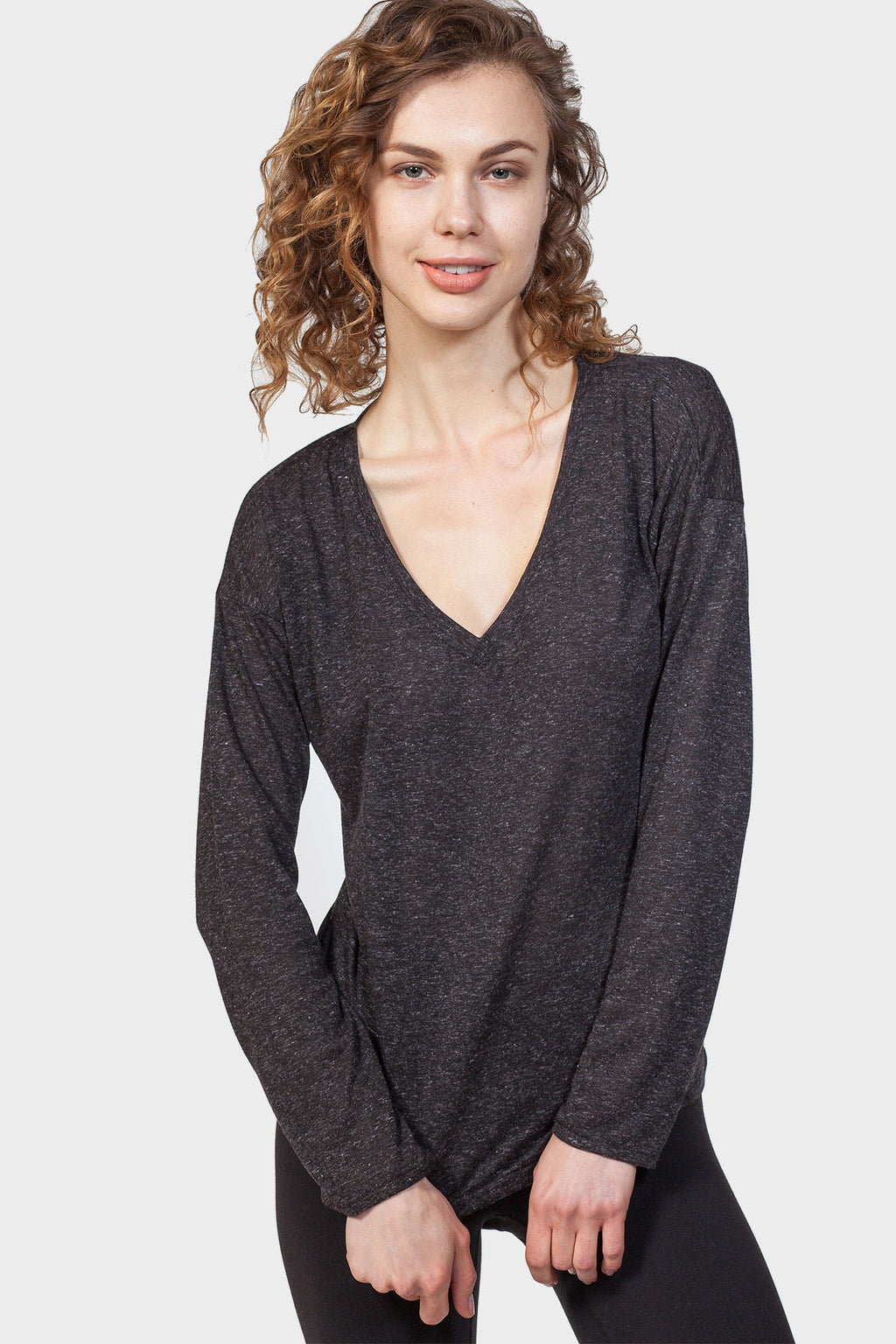 V-NECK SWEATSHIRT - 337 BRAND Women's Sustainable Clothing