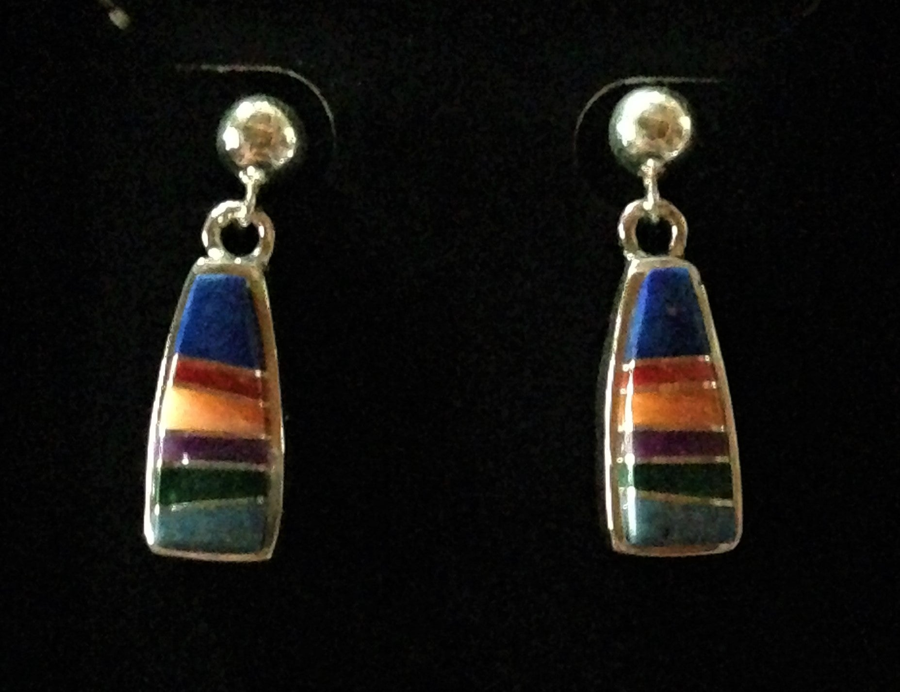 Premium Navajo Handcrafted Inlay sterling silver jewelry with genuine stones