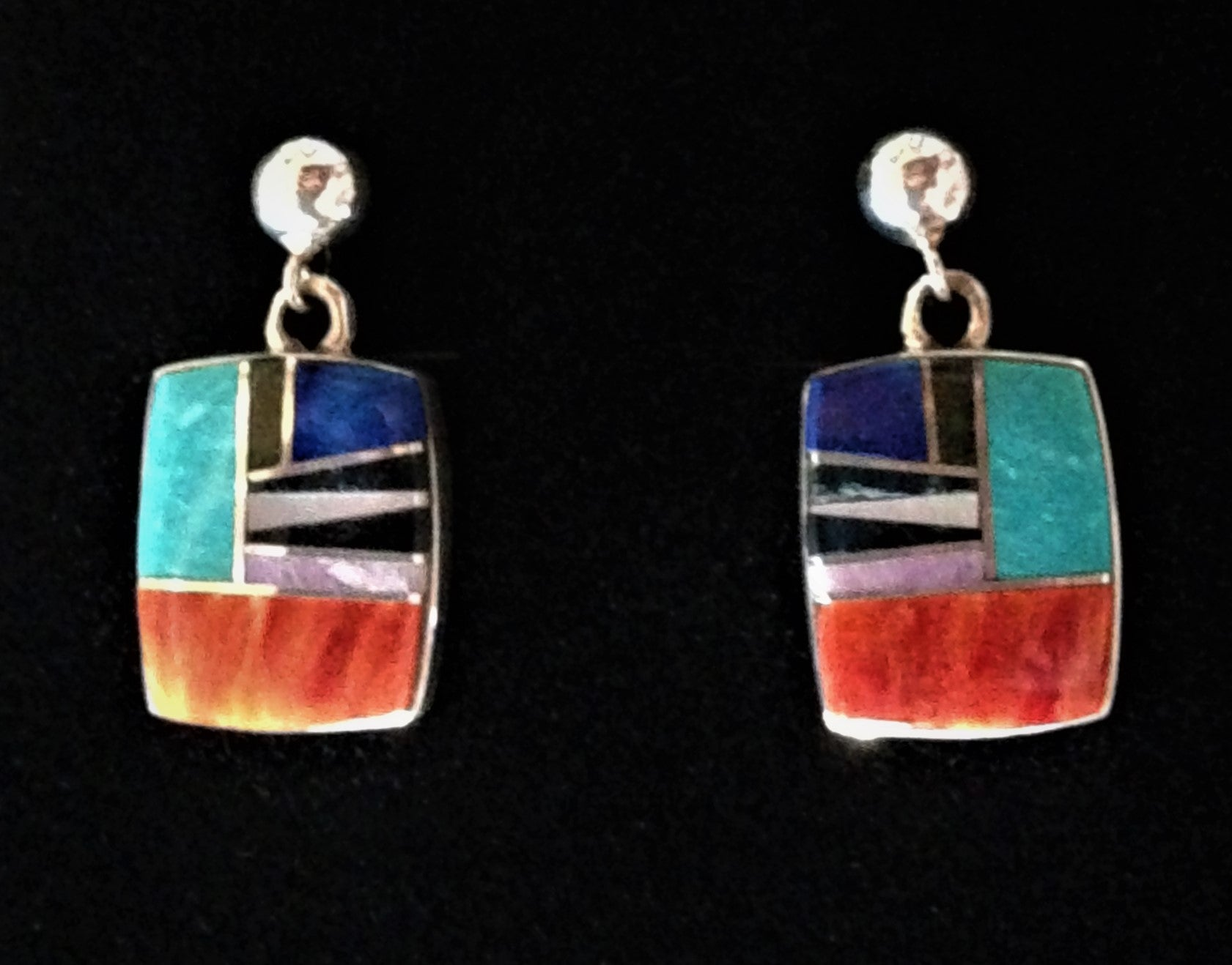 Native American Handcrafted Sterling Silver jewelry with genuine stones.