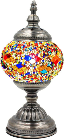 Mutil color inlay single globe glass lamp for table.
